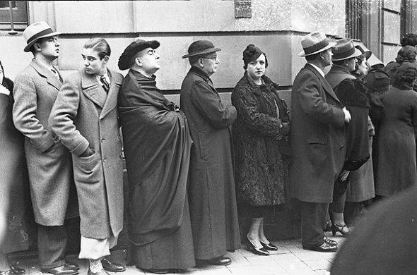 Cola Electoral, Barcelona, 1936