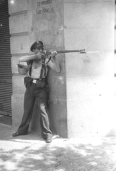 Miliciano, Barcelona, 18 de julio de 1936