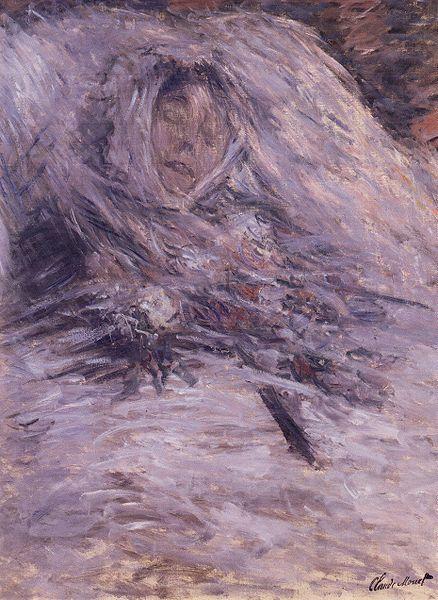 Camille Monet en su lecho de muerte. 1879