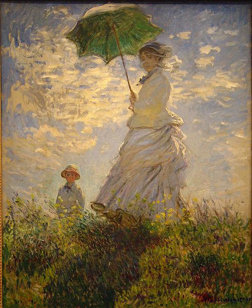 El paseo - Mujer con sombrilla. 1875