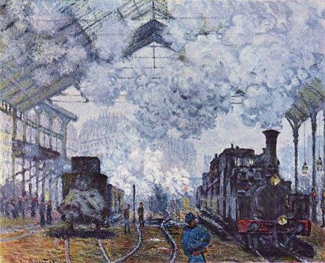 Estación de Saint Lazare. 1877