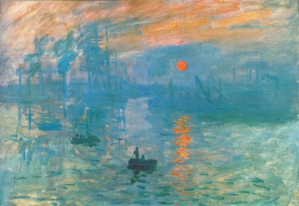 Impresión: amanece, (Monet, 1972)