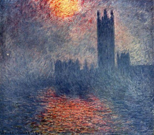 El parlamento, traspasado de sol en la niebla, 1899-1901