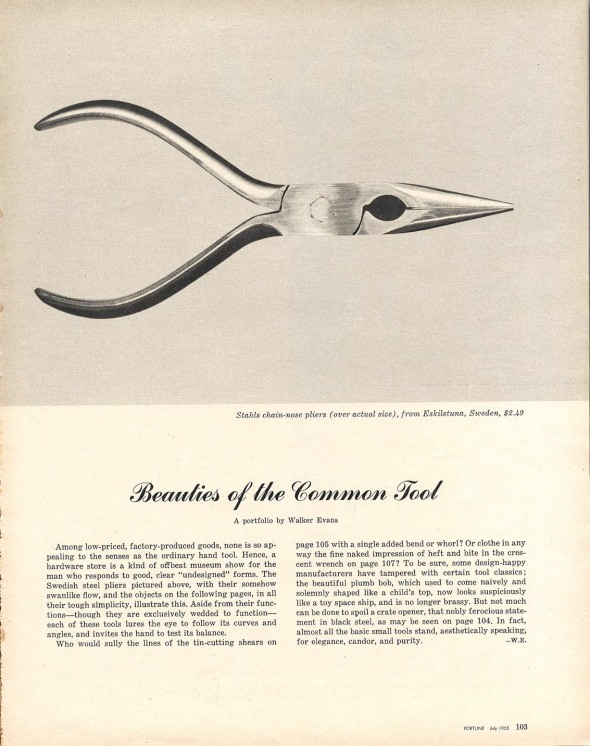 Beauties of the common tool, Fortune, 1955