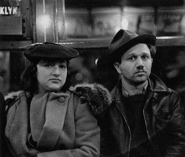 Subway passengers, 1938