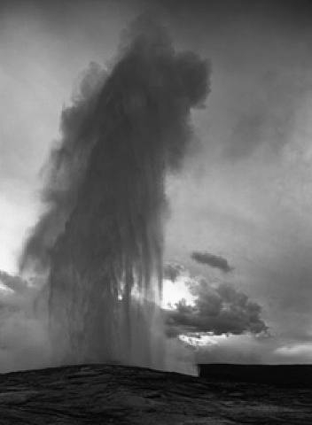 Ansel Adams - Old Faithful Geyser, Yellowstone, 1941