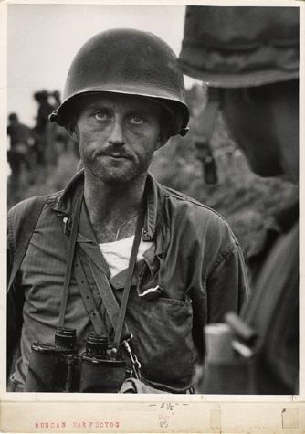 David Douglas Duncan - Capt. Ike Fenton, No Name Ridge, Korea, 1950