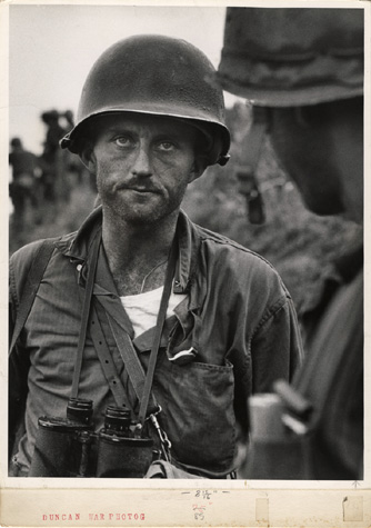 David Douglas Duncan - Capt. Ike Fenton, No Name Ridge, Korea, 1950