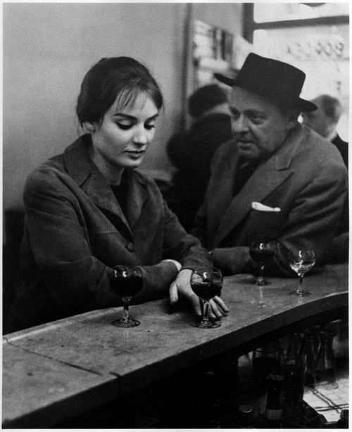 Robert Doisneau - At the Cafe, Chez Fraysse. Rue de Seine, Paris, 1958