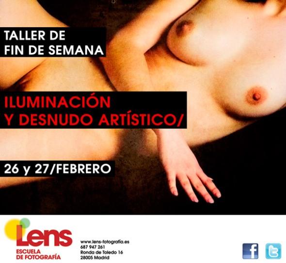 Taller de Iluminacion y Desnudo artístico en LENS