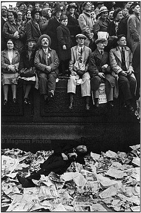 Henri Cartier-Bresson: Coronación del rey Jorge VI. Londres, 1937