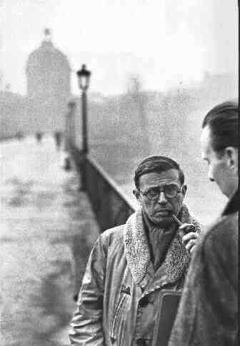 Henri Cartier-Bresson - Jean Paul Sartre con Jean Pouillon, 1946