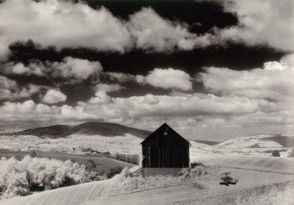 Minor White - White Barn and Clouds