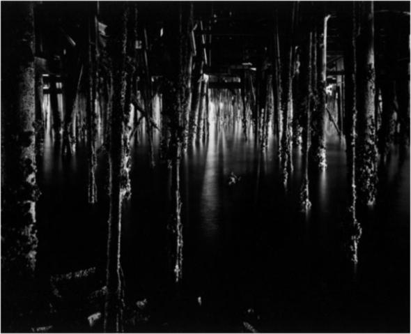 Wynn Bullock: Unde Monterey Wharf, 1969