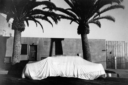 Robert Frank -Covered Car, Long Beach, 1956