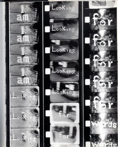 Robert Frank - Fotogramas de Moving Pictures, 1994