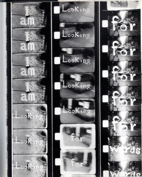 Robert Frank - Fotogramas de Moving Pictures, 1994