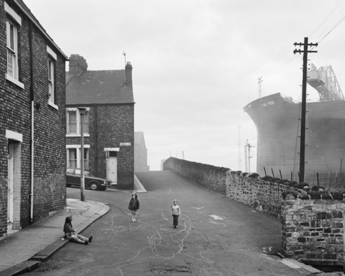 Chris Killip - Housing and Shipyard, Wallsend, Tyneside (1975)