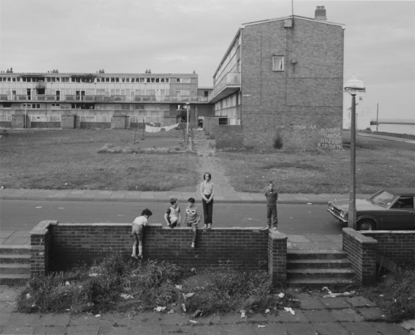 Chris Killip - Housing Estate on May 5th, North Shields, Tyneside, 1981