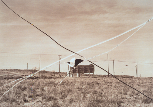 Thomas F. Barrow - Flight Field, de la serie Cancellations, 1974