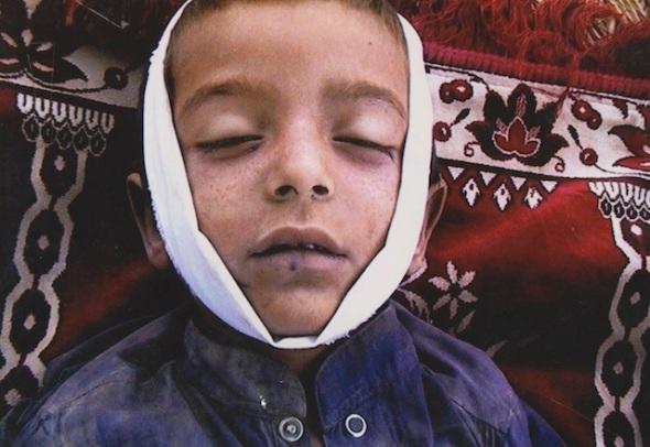 Noor Behram: Syed Wali Shah, 7 años, víctima de un ataque  de un dron en Waziristan. Pakistán, 2009