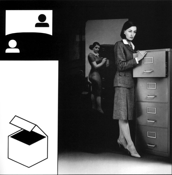 Victor Burgin, Office at Night, 1984