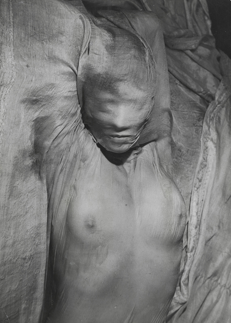 Erwin Blumenfeld - Nude Under Wet Veil, Paris 1937