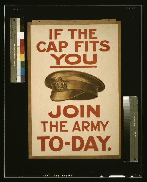 Póster de propaganda del ejército inglés, 1915