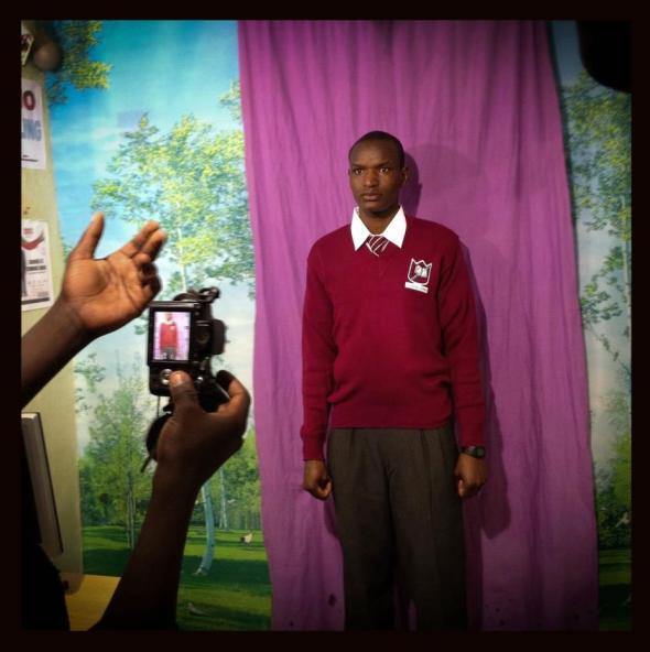 Everyday Africa Project - A makeshift photo studio in Nairobi's Kibera slum. Photo by Nichole Sobecki.