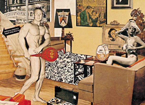 Richard Hamilton: Just what is it that makes today's homes so different, so appealing? [¿Qué es lo que hace que las casas de hoy sean tan diferentes, tan atractivas?], 1956