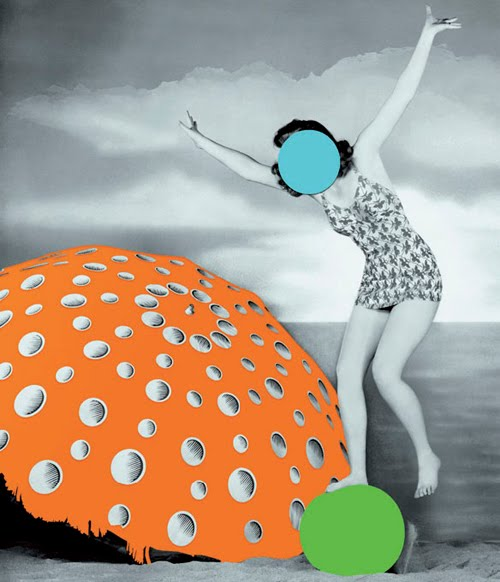 John Baldessari - Umbrella (Orange): With Figure and Ball (Blue, Green), 2004