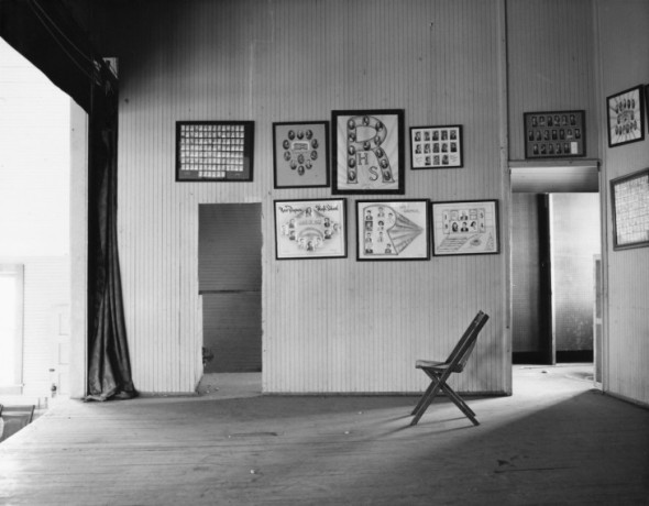 Robert Adams - Gymnasium, consolidated school (closed). New Raymer, Colorado, 1970