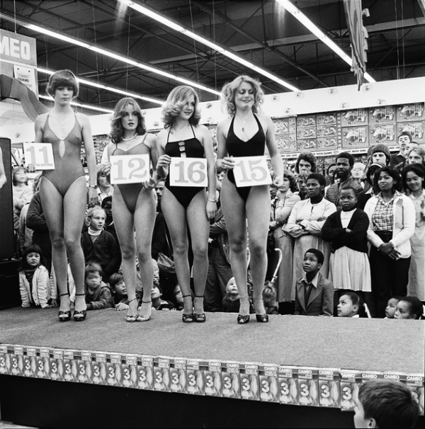 David Goldblatt - Saturday morning at the Hypermarket, Miss Lovely Legs Competition, 1979-80