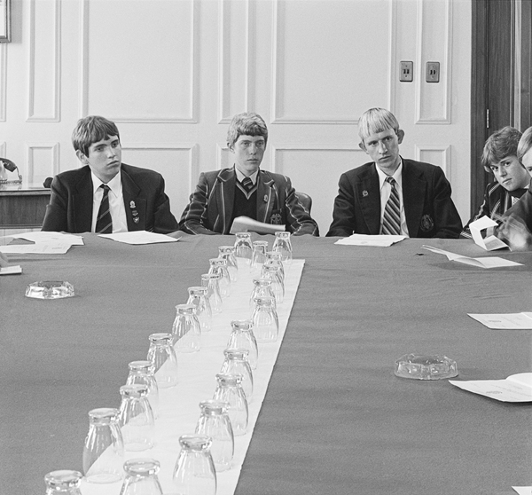 David Goldblatt - During a session of the Junior Town Council at the Town Hall. 1979/80