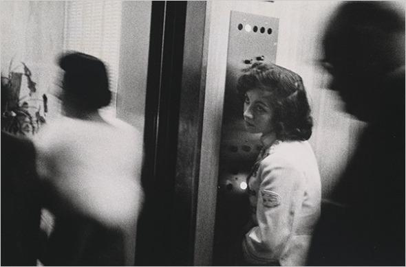 "Robert Frank - ""Elevator — Miami Beach,"" 1955"