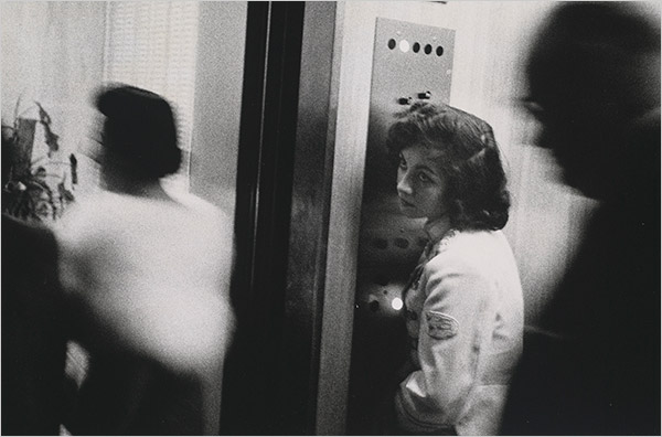 "Robert Frank - ""Elevator — Miami Beach,"" 1955"