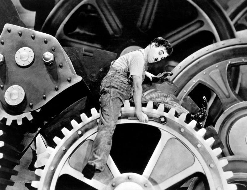 Tiempos modernos - Charles Chaplin, 1936